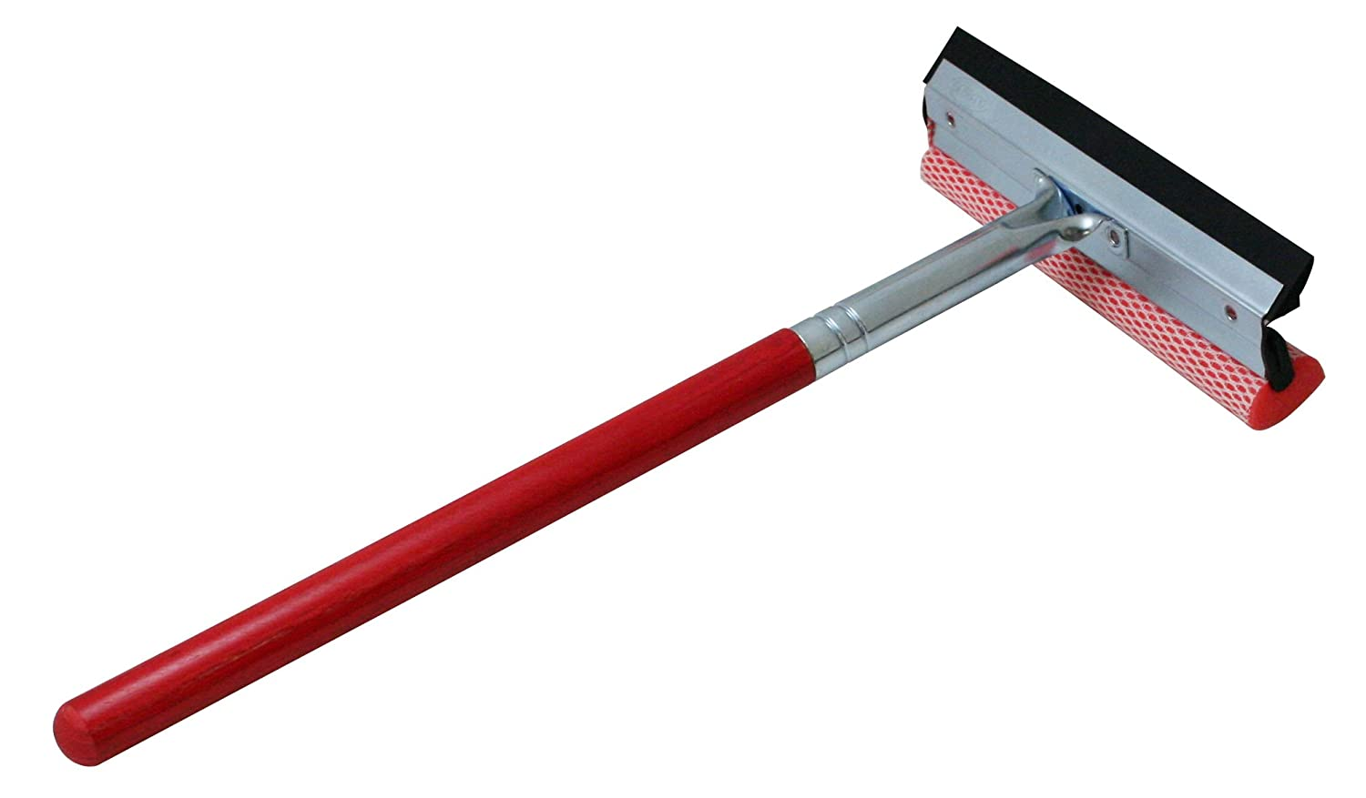 Carrand 9031R Red 8' Metal Squeegee with 16' Wood Handle