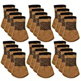 Chair Leg Protectors for Wooden Floors Chair Socks, Outgeek 24 Pack Knitted Furniture Feet Socks Chair Leg Floor Protectors (Coffee)