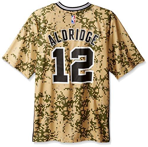 (NBA Men's San Antonio Spurs LaMarcus Aldridge Replica Player Pride Jersey, Small, Green )