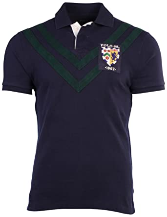Polo Ralph Lauren - Hombre Custom Fit Mesh Chevron Shirt-Cruise ...