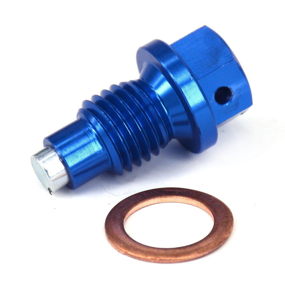 Fast Pro CNC Aluminium M10 x 1, 25 Rahmen magnetisch Ö lablassschraube Schraube Waschmaschine –  Suzuki DRZ400S DRZ400E DRZ400SM 2000– 2015 Gold
