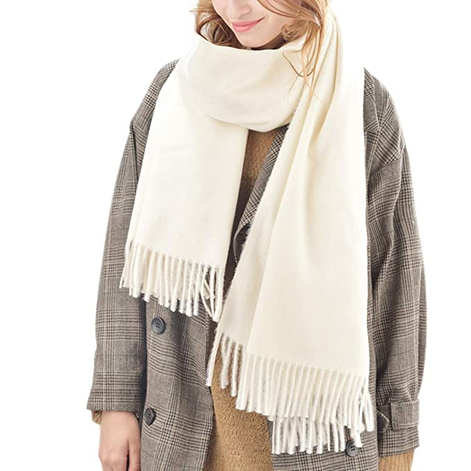 a6063c3e9 Womens Winter Scarf Cashmere Feel Pashmina Shawl Wraps Soft Warm Blanket  Scarves for Women (One