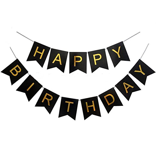 Amazon.com: queenland Large Happy Birthday Bunting Banner ...