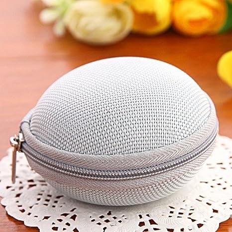 Gris lindo unisex moneda bolsa caso bolsa de almacenamiento Mini bolsa cartera bolsa tipo cartera bolso de mano bolsa de lona portátil bolsa redonda ...