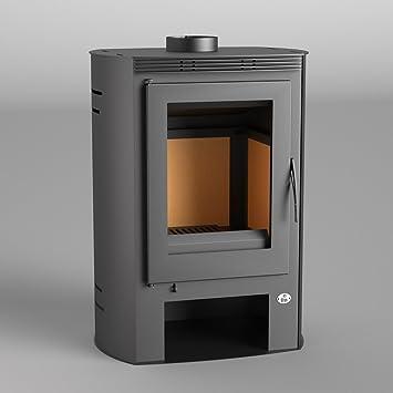 FM Calefaccion M-202 estufa para madera (acero con cabaña: Amazon.es: Hogar