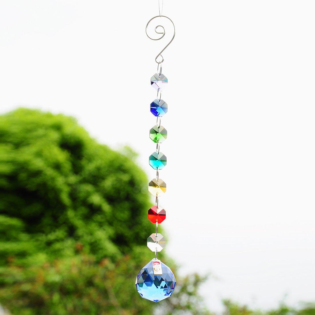 5PCS Clear Crystal Ball Prism Rainbow Maker Suncatcher Wedding Home Favors