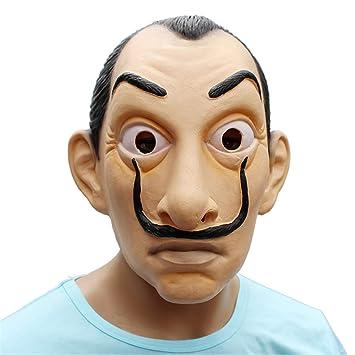 VUKUB Decoración De Halloween La Casa De Papel Máscara De Disfraces Máscara Cosplay Full Head Máscara