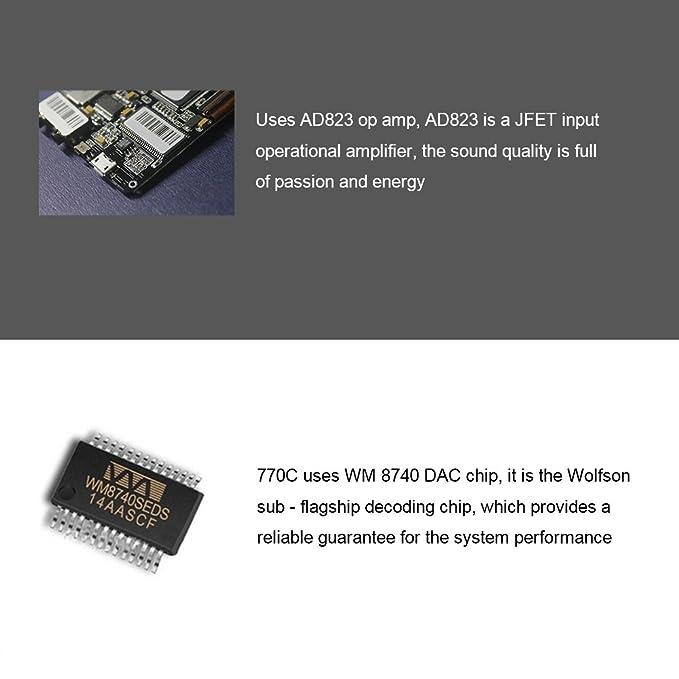 XUELIN IHIFI 770C Reproductor de música AD823lpf WM8740 de 24 bits/192khz HD Reproductor de Audio 8G Memoria Interna Modo Salida Dual para 128G Tarjeta de ...