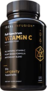 Raw Whole Food Vitamin C Complex: Organic Fruit & Veggie Blend - Immune Support - 100% Plant Based Vitamin C (2 Month Supply) Vegan