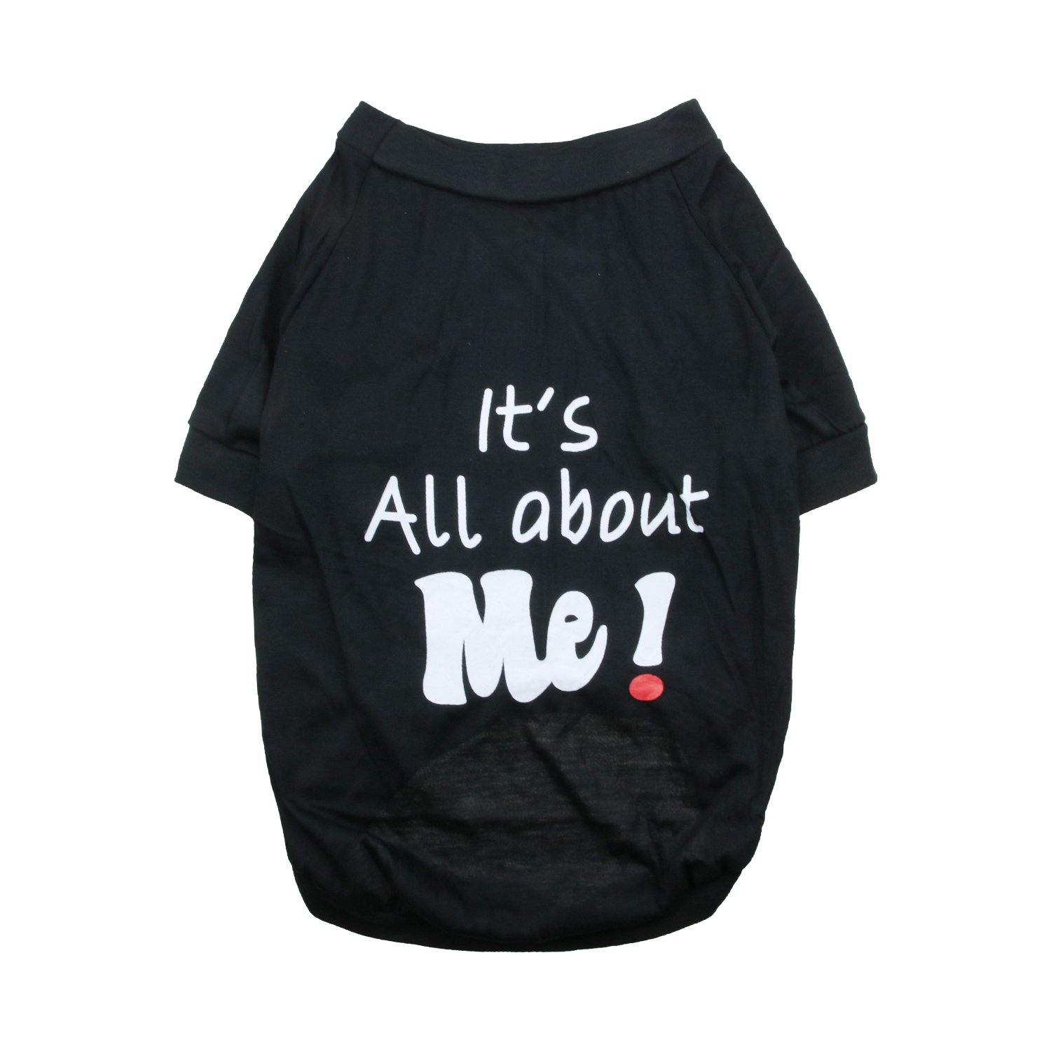 DroolingDog Pet Dog Clothes Cat Apparel「It's All About ME」Costume Tee Shirt for Medium Large Dogs, X-Large, Black