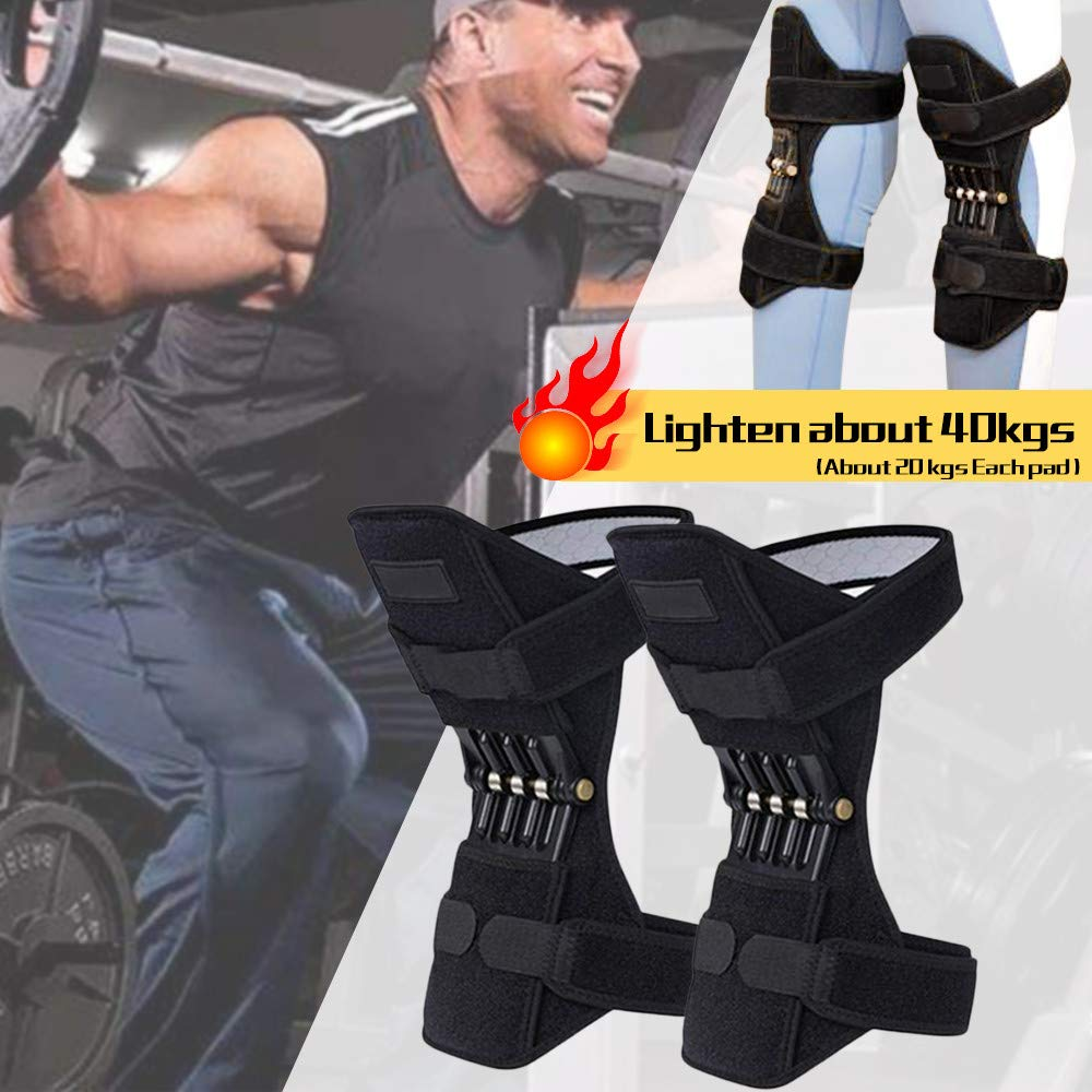 HAPPIShare Heavy Duty Foam Padding Kneepads, Strong Double Straps and Adjustable Easy-Fix Clips,1 Pair Knee Pad (Black3, ONE Size) by HAPPIShare Kneepads (Image #10)