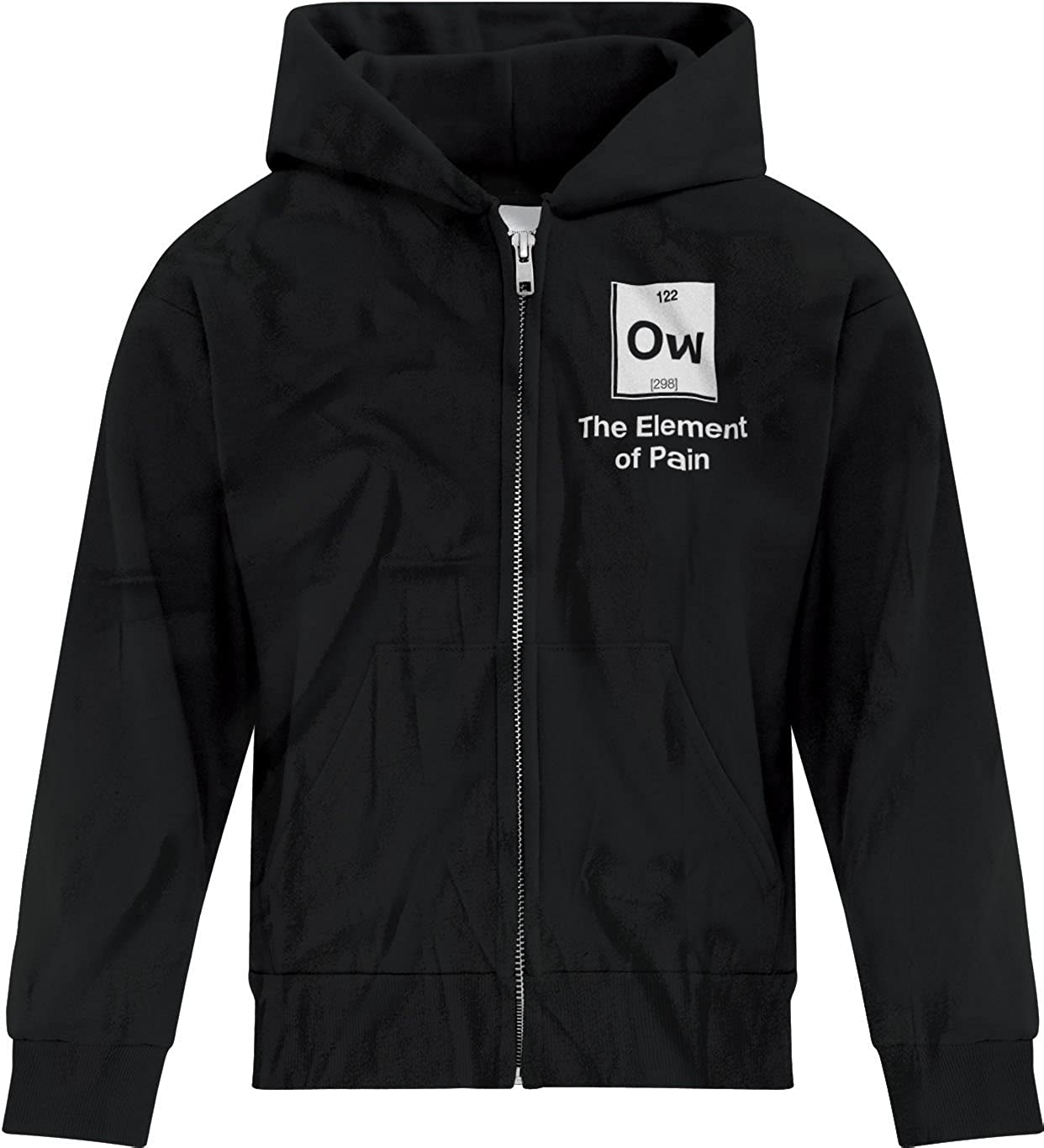 BSW Youth Boys No OW The Element of Pain Periodic Hurt Ouch Zip Hoodie