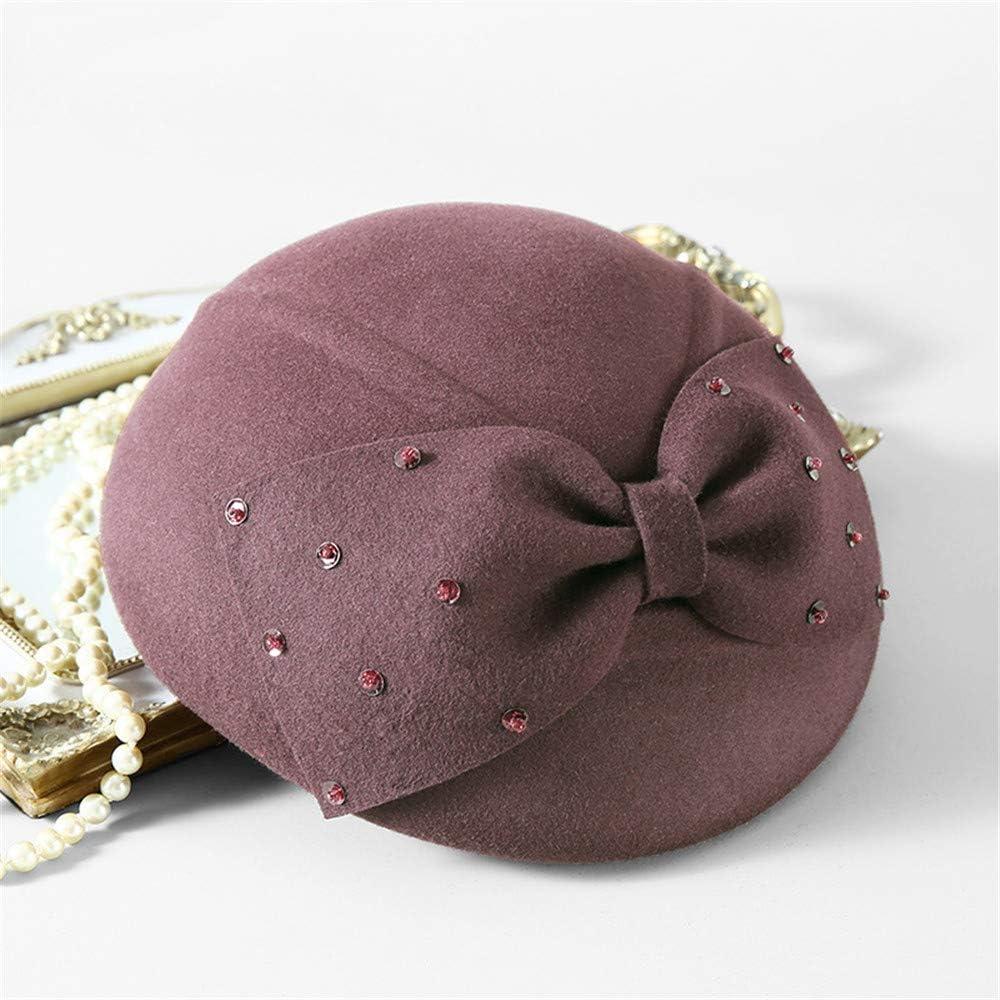 TTjII Womens hat Bucket Bell Shaped Cap 1920s Vintage 100/% Wool Gift Grey