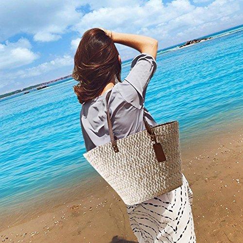 Verano para de shopping Bag flores hombro mujer para There Beach ecológico Messenger informal bolso Bolso de Tela Vestmon Straw Outdoor Elegante 1IqwqnB7