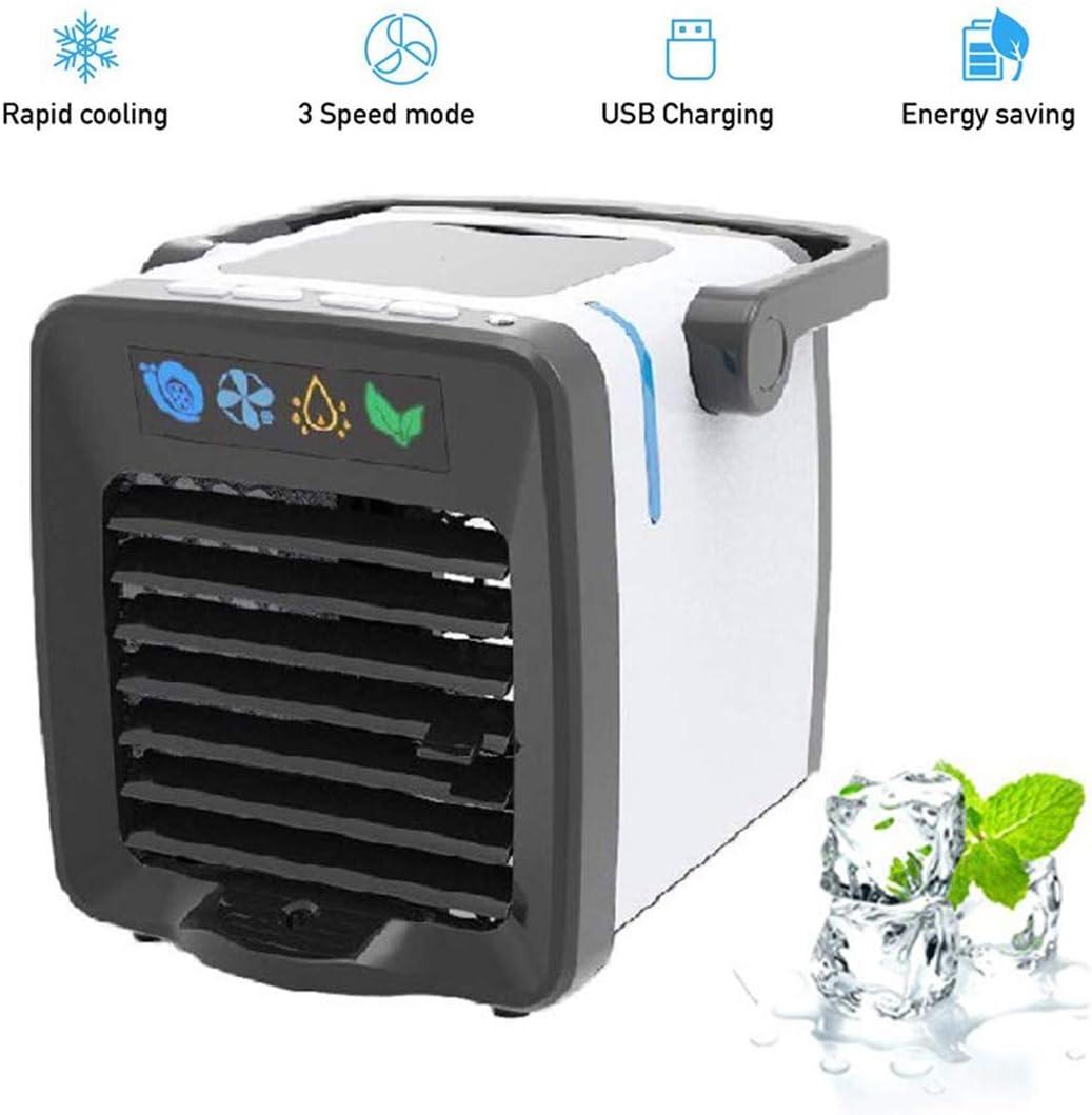 ACZZ Refrigerador, 3 velocidades Mini aire acondicionado Mini aire refrigerador Humidificador Purificador de aire Aire acondicionado ajustable Ventilador Oficina al aire libre Garaje-Blanco 17X15.5X1: Amazon.es: Bricolaje y herramientas