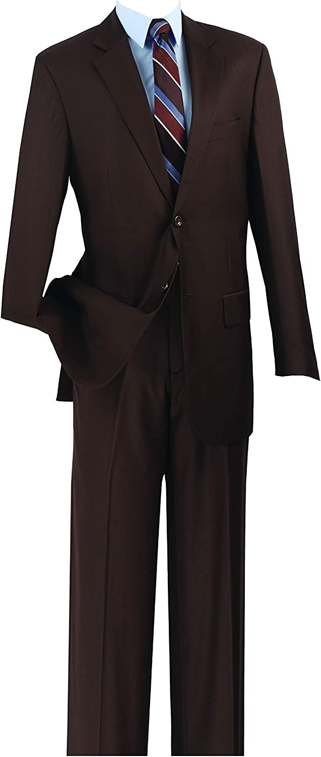 Fortino Landi Men's 3 Button Single Breasted Dress Suit, 14 Colors. 8022