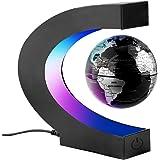 Surplex C Forma Globo Flotante de Levitación Magnética con Luces Color LED, Mapa de Mundial Rotativo para la Educación…