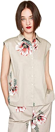 Pepe Jeans Camisa Valentina Beige Mujer - Ropa