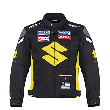 Amazon.com: Suzuki Yellow Textile Motorcycle Jacket (M (EU ...