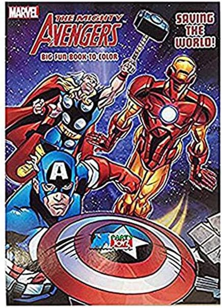 Marvel Avengers 64 Pg Big Fun Book to Color Saving the World