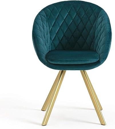 La Redoute Interieurs Chaise De Table En Velours Vintage Luxore