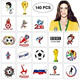 World Temporary Tattoos - Soccer Game Fan Party Supplies Favors Decorations