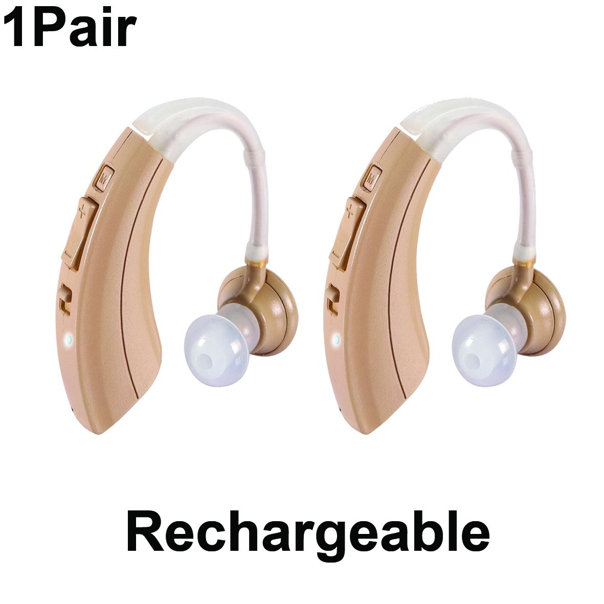 1 Pair New Ez 220t Rechargeable Digital Hearing Living Aids Amplifiers Accessories Bte Amplifier Clearly Technology To Make Voices Crystal Clear