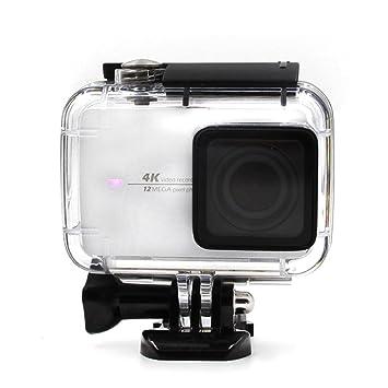 TELESIN cubierta de 30 m bajo el agua para Xiaomi yi 4 K Impermeable Carcasa Carcasa de buceo accesorios para Xiaomi yi cámara de acción 4 K 2, Yi ...