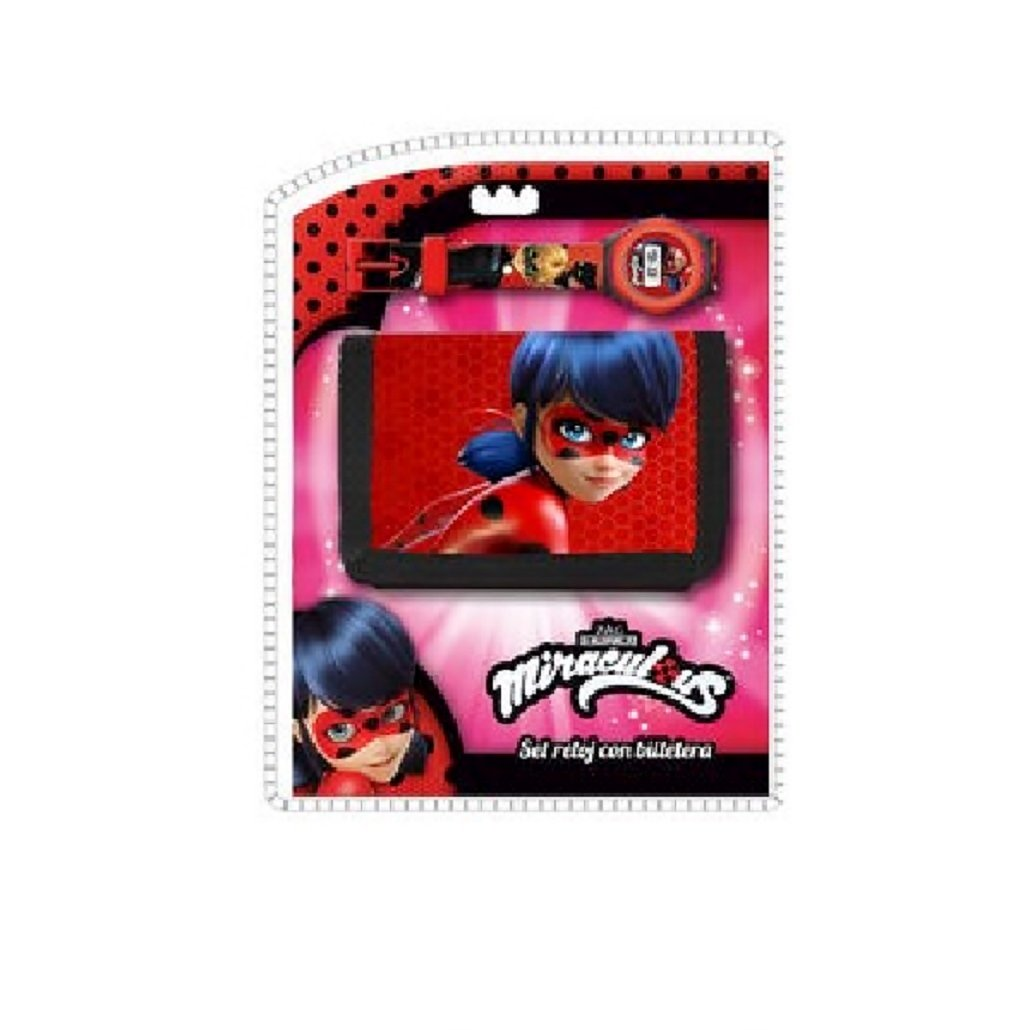 MIRACULOUS - Set cadeau Ladybug Miraculous portefeuille + montre digitale wz-881835