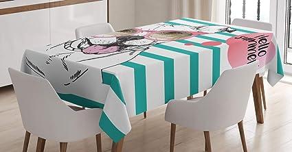 Abakuhaus Pitbull Tovaglia Inglese Pitbull Sunglassess Rettangolare Per Sala Da Pranzo E Cucina 140 Cm X 170 Cm Multicolore Amazon It Casa E Cucina