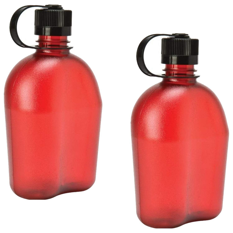 2 Pack Nalgene Oasis 1qt Canteen Bottle