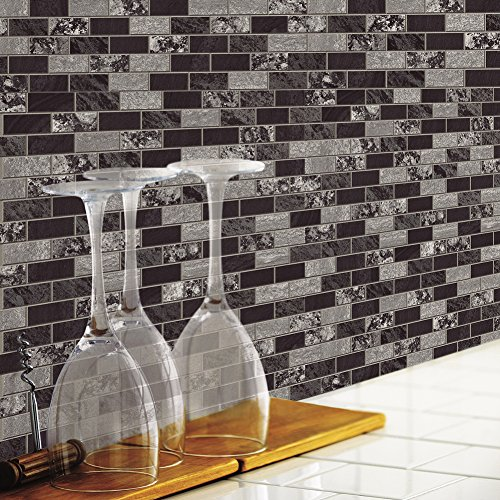 RoomMates Traditional Marble Peel and Stick Tile Backsplash, 4-pack 10.5'' X 10.5''