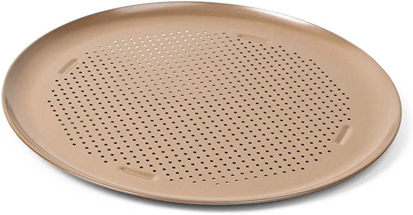 Calphalon 16-Inch Nonstick Pizza Pan, Toffee, 1893302: Kitchen & Dining