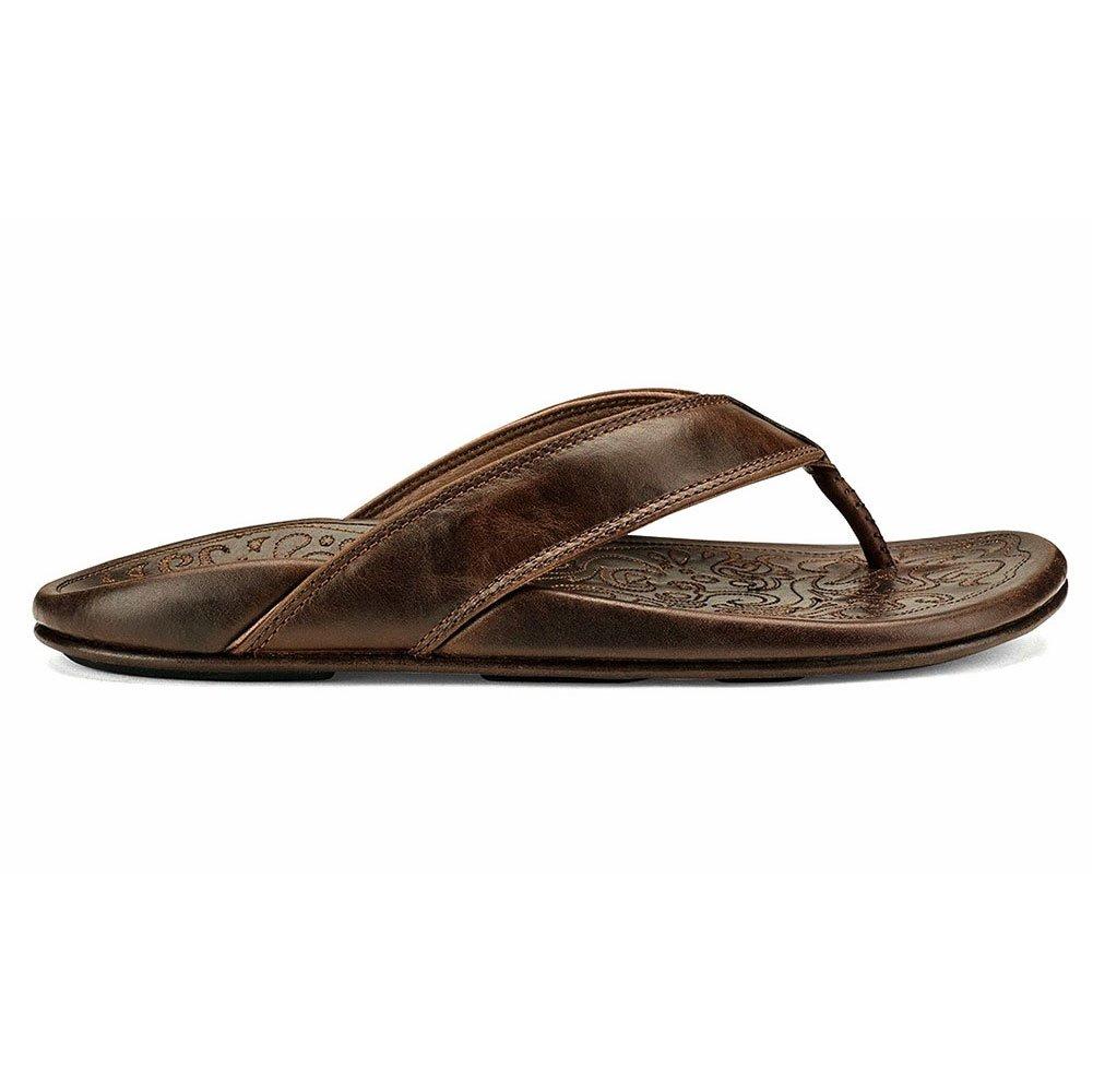 OluKai Po'okela Flip Flop(Men's) -Charcoal Discount Classic TFfhm8