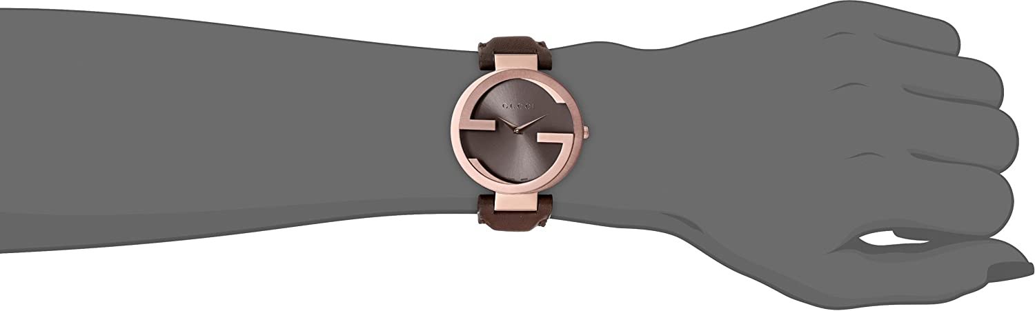 Gucci Interlocking Brown Strap Women s Watch Model YA133309