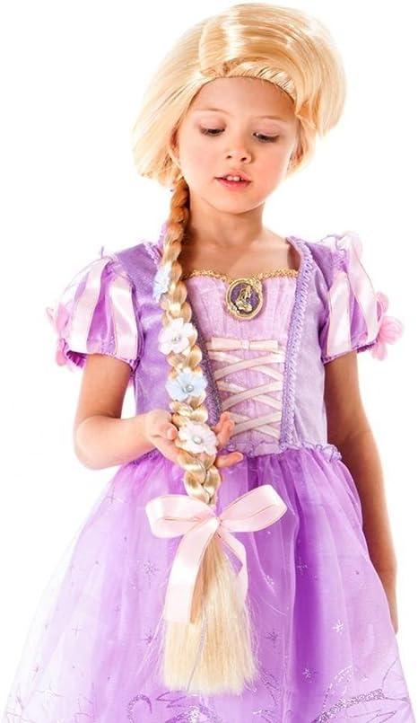Amazon Com Disney Rapunzel Wig With Braid Clothing