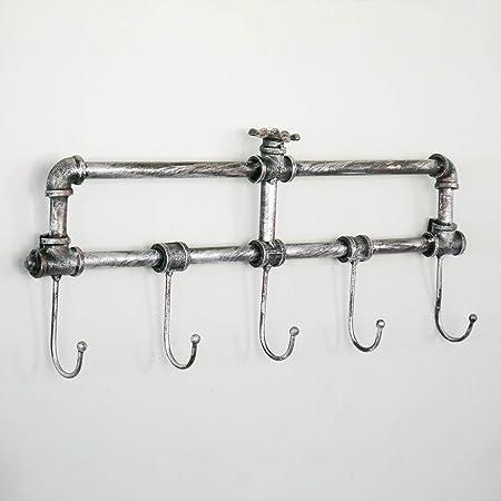 CARACTERÍSTICAS - El estante de la capa tiene 5 ganchos de colgadura fuertes y tiene 2 agujeros prev