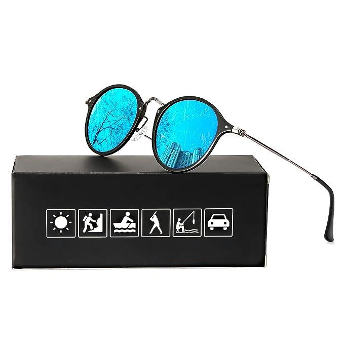 ELIVWR Redondas Retro Polarizadas Gafas de Sol Con Gafas de ...