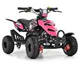 FUN:BIKES FunBikes Kids Mini Quad Bike 49cc 50cc Petrol Quad - Ride On ATV Midi (Pink)