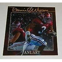 $34 » Trent Richardson Signed Autographed Auto UA Alabama Crimson Tide Daniel Moore Calendar Print