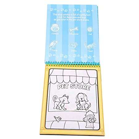 HEEPDD Libro de Dibujo de Agua, Pintura de colorante de Agua ...