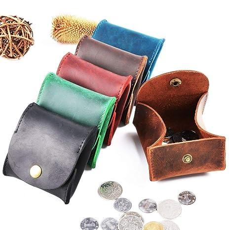 Monedero de bolsillo para hombre Mini monedero de cuero caso ...