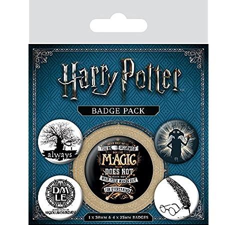Badge Pack Insignia de símbolos de Harry Potter, Multicolor, 10 x ...