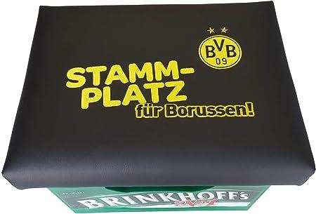 als Geschenk für IHN Fanartikel BVB Dortmund Kissen Bierkisten Sitzkissen