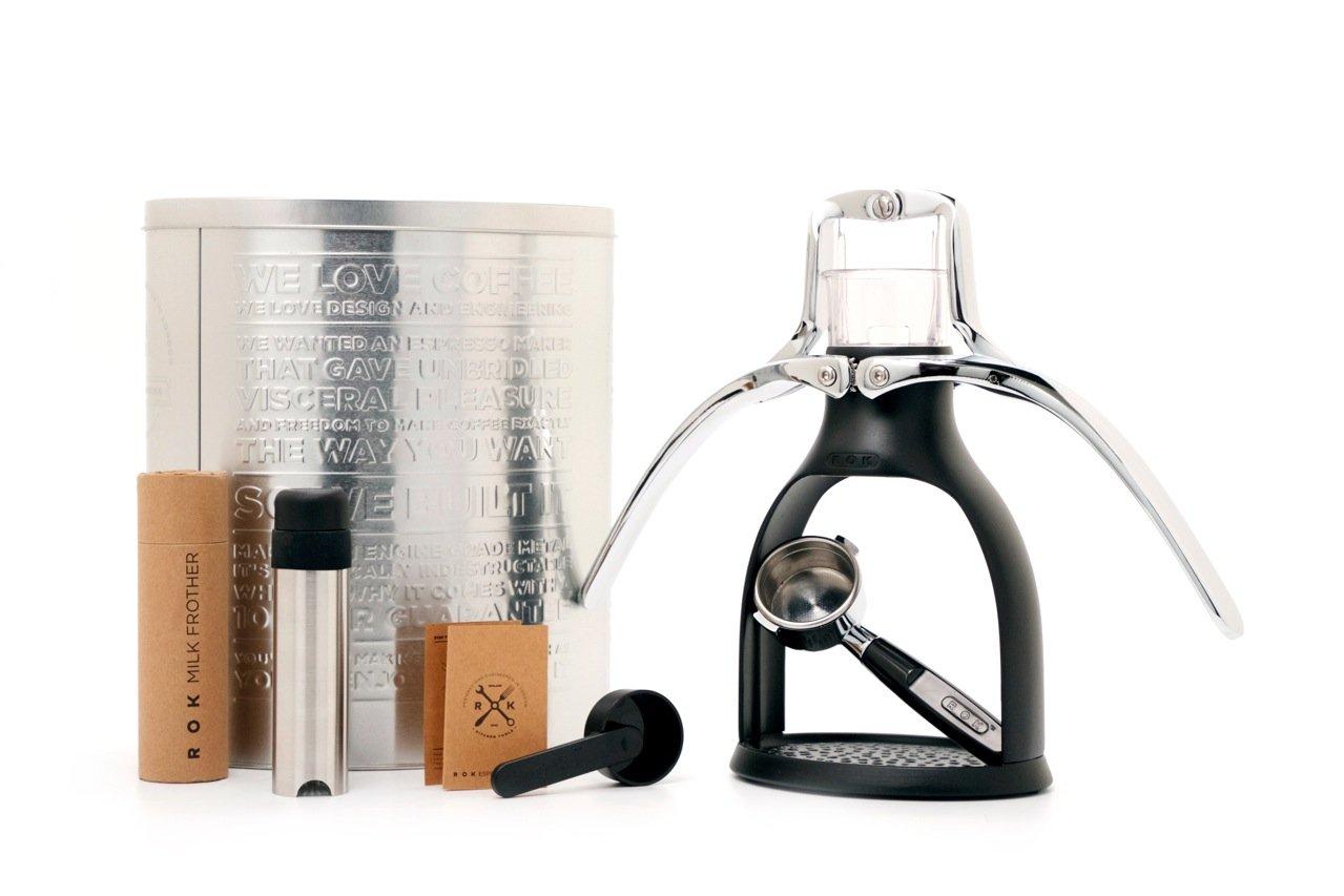 ROK ROKMAKERBLK Presso Manual Espresso Maker, 12.2 x 10.6 x 7.9-Inch, Black