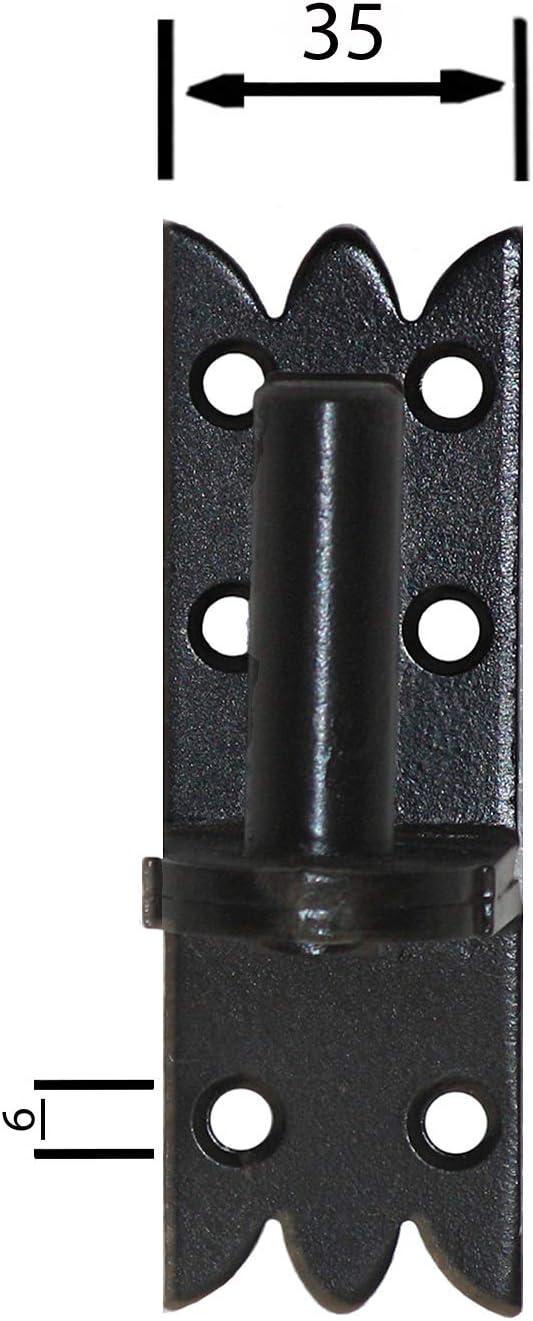 Recharger bande Bandes Porte Bandes de charni/ère 300/x 45/x 4/mm avec gond 14/mm noir
