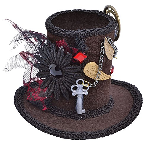 Mini Black Ladies Steampunk Tall Top Hat