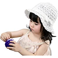 jerague Toddler Kids Baby Girl Breathable Sun Hat Cotton Foldable 50+ SPF Protective