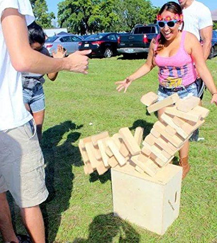 Giant Tumbling Towers Game Blocks up to 4+FT to +5FT & Includes Wooden Case by Tumbling Towers
