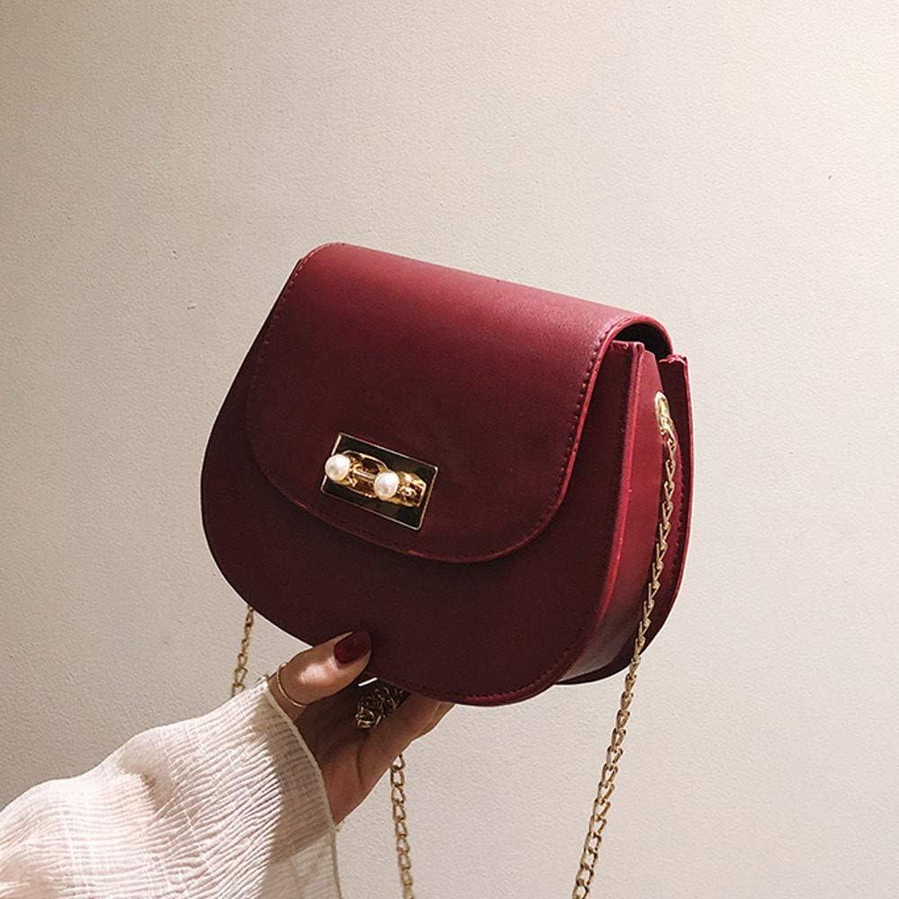 Ladies Simple Crossbody Bag,Woman Fashion Panelled Button Simple Design Shoulder Bag Messenger Bag